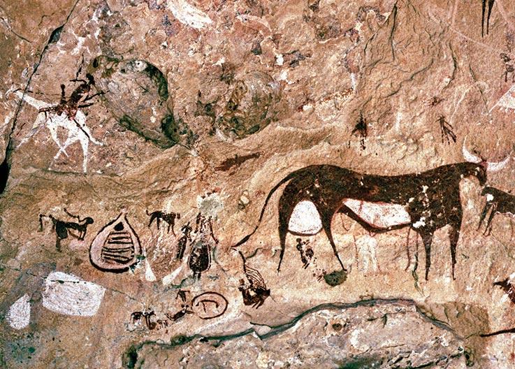 Forschungen und Expeditionen im Norden des Tschad, das Ennedi Massiv, Felszeichnungen, Explore Chad