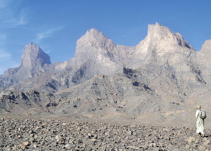 Forschungen und Expeditionen im Norden des Tschad, karge Berglandschaft des Tibesti Gebirges, Tieroko, Explore Chad