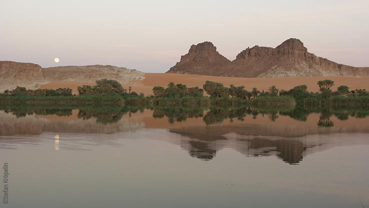 Expedition nach Ounianga, Die Seen von Ounianga, Dämmerung, Explore Chad