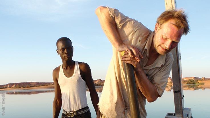 Expedition nach Ounianga, Arbeiten auf der Borhplattform, Explore Chad