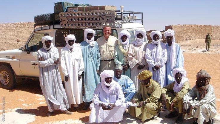 Expedition nach Ounianga, Würdenträger und Stefan Kröpelin, Explore Chad