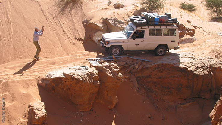 Expedition to Ounianga, driving through rough terrain, Explore Chad