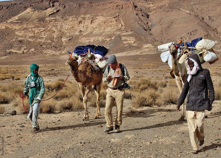 The Tibesti Mountains, travelling on foot, camels as pack animals, Explore Chad