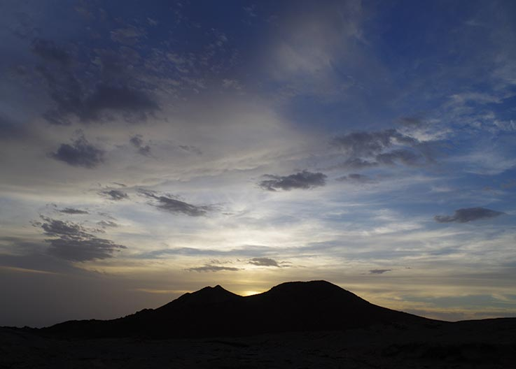 The Tibesti Mountains, at dusk, Explore Chad